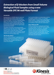 Extraction of B-blockers from Small Volume Biological Fluid Samples using a new Versatile SPE 96-well Plate Format