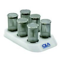 QLA Dissolution Storage Racks, Holders and Accessories: 6 Position Basket Holder, Universal Compatibility