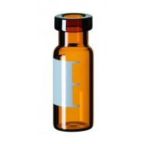 2ml Crimp Neck Vial, 32 x 11.6mm, amber glass, 1st hydrolytic class, wide opening, label and filling lines