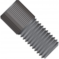 "Flangeless Nut, for 1.8, 2.0, 3.0mm, 1/8"" OD Tubing, M6 Flat Bottom, PEEK™, Black"