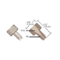 Adapters & Connectors: Threaded Adapter, 10-32 Coned (Female) to M6 Flat Bottom (Male), PEEK™