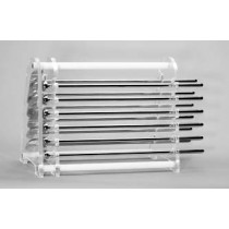 QLA Dissolution Storage Racks, Holders and Accessories: 16 Position Paddle/Basket Shaft Holder