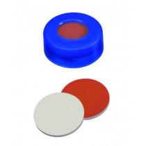 Vials, Caps and Closures: Snap Cap Soft Blue 11mm ,