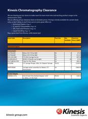 Kinesis Australia Clearance Catalogue
