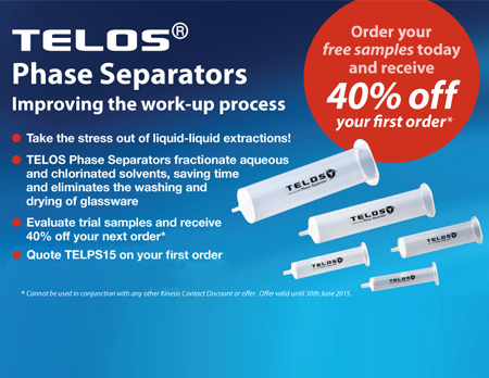40% off your First Order of Telos Phase Separators