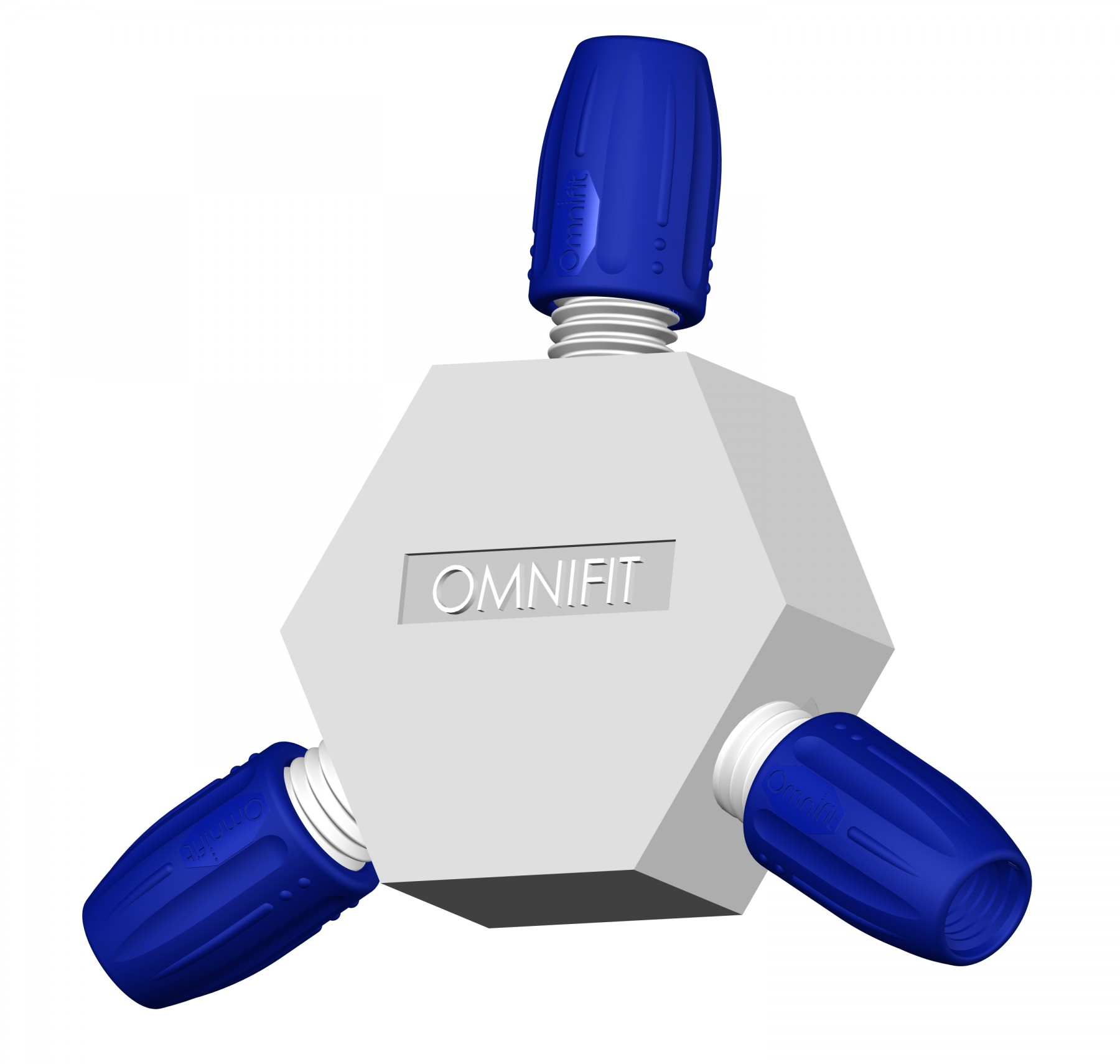 Adapters & Connectors: Connector, 3-way (Hex)
