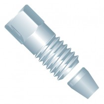 "Rheodyne (IDEX Health & Science )  SST  Fitting Fitting Nut, for 1/8"" OD Tubing, 5/16-24 Coned, SST"