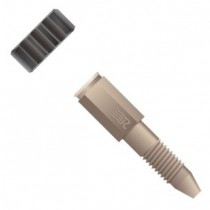 "Rheodyne (IDEX Health & Science )  Fingertight Fitting, single piece, for 1/16"" OD Tubing, 10-32 Coned, PEEK™, Natural"