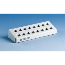 Brand: General Consumables: Cuvette rack, PP, grey for 16 cuvettes, 210 x 70 x 38 mm