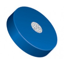 """Filters & Frits: Stainless Steel Frit in PCTFE Ring, Natural/Blue, 0.5µm, 0.062"""" Frit OD, 0.200"""" Ring OD"""
