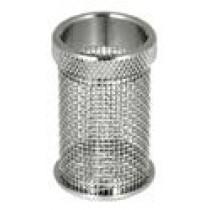 QLA Dissolution Baskets: 20 Mesh Standard Push-On Style Basket for Distek, 316 SS, Serialized