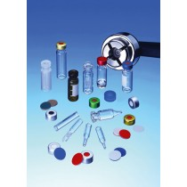 11mm Combination Seal: Aluminium Cap, clear lacquered, centre hole; Silicone white/PTFE blue, 55° shore A, 1.5mm, cross-slitted