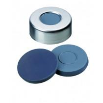 20mm Combination Seal: Aluminium Cap, plain, centre hole; Moulded Septa Butyl/PTFE, grey, 50° shore A, 3.0mm