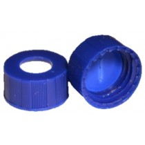 Discounted Vials and Caps: Short Thread Cap Blue 9mm,