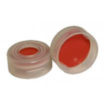 Snap Cap 11mm, Red PTFE / Silicone / Red PTFE Septa