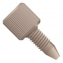 "Fingertight Fitting, single piece, for 1/16"" OD Tubing, 10-32 Coned, PEEK™, Natural"