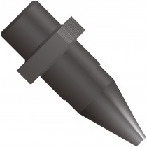 "MicroTight® Ferrule, for use with MicroTight® Tubing Sleeve (0.025""), 5/16""-24 Coned, PEEK™, Black"