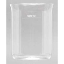 QLA Disintegration Testing: 900mL Clear Glass Disintegration Beaker with Flared Top