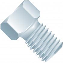 "SuperFlangeless™,  Fitting Nut, Short, 1/16"" or 1/32"" OD Tubing, 1/4""-28 Flat Bottom,  SST, Natural"