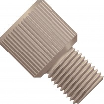 """LiteTouch®/SuperFlangeless™, Fitting Nut, 1/8"""" OD, 1/4""""-28 Coned & Flat Bottom,PEEK™, Natural"""