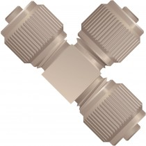 "Adapters & Connectors: Micro Static Mixing Tee, for 1/16"" OD Tubing, 5/16""-24 Coned, PEEK™"