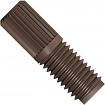 """SuperFlangeless™,  Fitting Nut,  1/16"""" or 1/32"""" OD Tubing, 1/4""""-28 Flat Bottom,  PPS, Natural"""