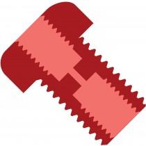Upchurch: Union Bulkhead Red PEEK 1/4-28