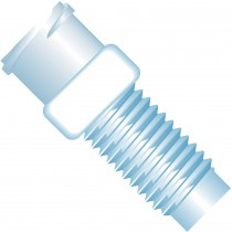 """Adapters & Connectors: Adapter, Luer (Female) to 1/4""""-28 Flat Bottom (Male), Polypropylene"""