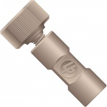"""Adapters & Connectors: Threaded  Adapter, 10-32 Coned (Female) to 1/4""""-28 Flat Bottom (Female), PEEK"""
