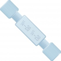 """Adapters & Connectors: Union, Threaded, 1/4""""-28 (Thru-Threads), ETFE"""