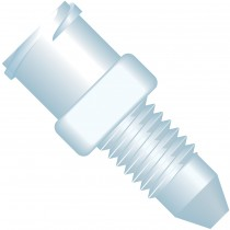 Adapters & Connectors: Adapter, Luer (Female) to 10-32 Coned (Male), PEEK/PEEK