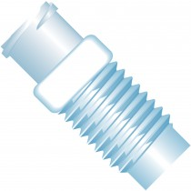 """Adapters & Connectors: Adapter, Luer (Female) to 5/16""""-24 Flat Bottom (Male), ETFE/Polypropylene"""