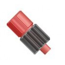 """Adapters & Connectors: Adapter, Luer (Male) to 1/4""""-28 Flat Bottom (Female), ETFE/Polypropylene"""