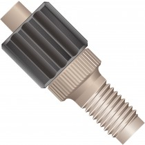 "Adapters & Connectors: Adapter, Luer (Male) to 1/4""-28 Flat Bottom (Male), ETFE"