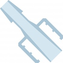 """Adapters & Connectors: Barbed Adapter, Male Luer (Lock) to 1/16"""" (1.55mm) ID Tubing, Polypropylene"""