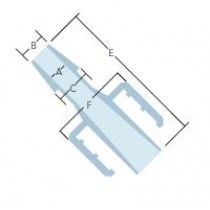 """Adapters & Connectors: Barbed Adapter, Male Luer (Slip Type) to 3/32"""" (2.4mm) ID Tubing, Polypropylene"""