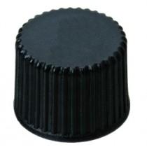 8mm PP Screw Cap, black, closed top, 8-425 thread