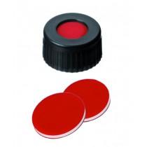 Discounted Vials and Caps: Short Thread Cap Black 9mm, Red