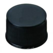 13mm PP Screw Cap, black, closed top