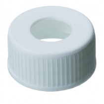 24mm PP Screw Cap, white, centre hole