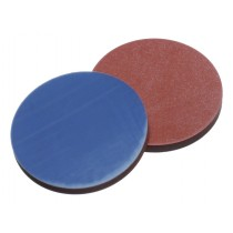 Septa 17.5mm Butyl Red / PTFE Grey