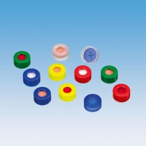 Snap Cap Red 11mm , Blue PTFE / Silicone Septa with Slit