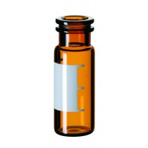 2ml Snap Ring Vial, 32 x 11.6mm, amber glass, 1st hydrolytic class, wide opening, label and filling lines