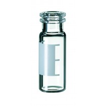 2ml Snap Ring Vial, 32 x 11.6mm, clear glass, 1st hydrolytic class, wide opening, label and filling lines