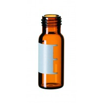 2ml Short Thread Vial, 32 x 11.6mm, amber glass, 1st hydrolytic class, wide opening, label and filling lines (>>> silanized