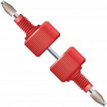 """Adapters & Connectors: Delrin Column Coupler, 10-32 Coned, with 0.007"""" ID SST Tubing"""