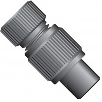 "Adapters & Connectors: Threaded  Adapter, 5/16""-24 Flat Bottom (Female) to 1/2""-20 Flat Bottom (Female), PEEK™"