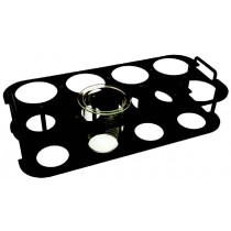 QLA Dissolution Storage Racks, Holders and Accessories: 8 Position Vessel Stand, Universal