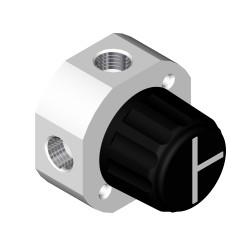 Omnifit Labware (Diba) Low Pressure Valves: Valve, 4-port, T-configuration
