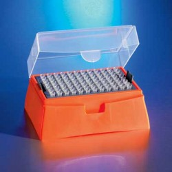 Corning: Pipette Tips / PD tips: Tip, 200µl DeckWorks, Clear  Graduated Hinged DeckRacks